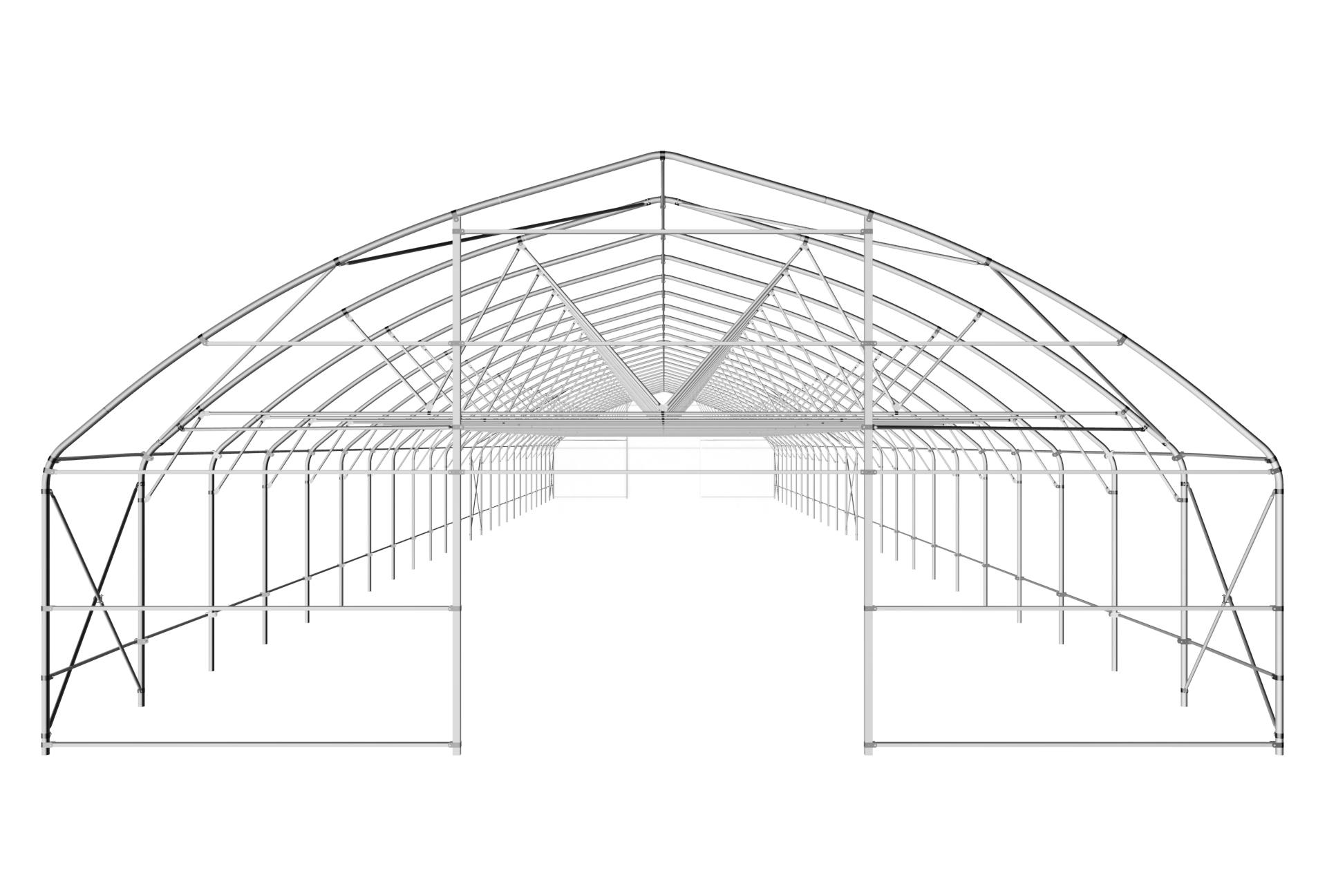 Теплица туннельная с прямой стенкой 9,6х4,7 м